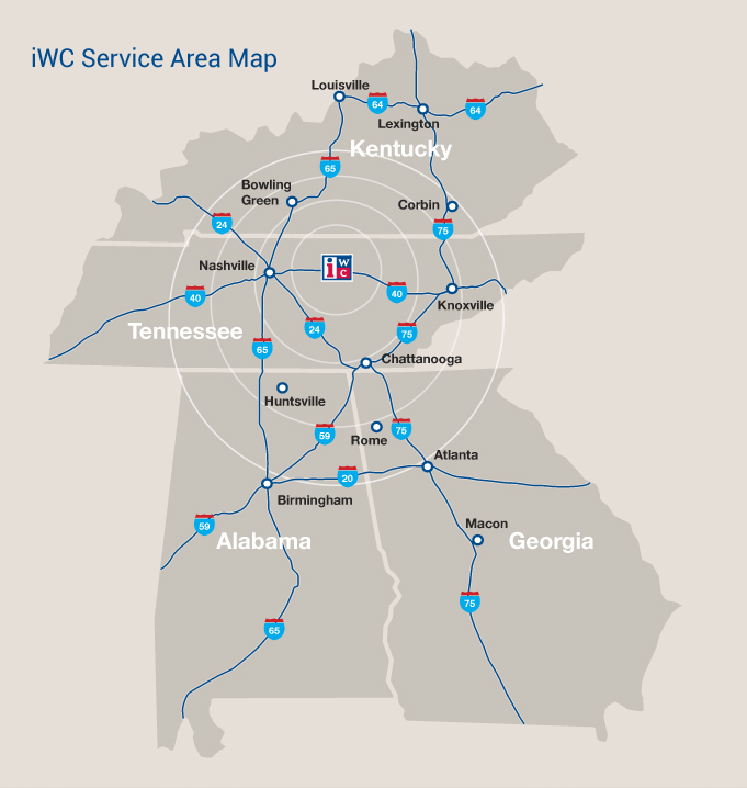 map of iwc service areas