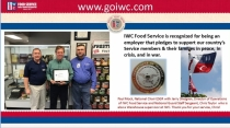 IWC Food Service recognized for supporting Service member employees