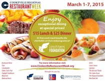 Cookeville Regional restaurant Week * March 1-7, 2015